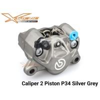 Kaliper Brembo Grey 2 Piston 1 Pin Universal ORIGINAL