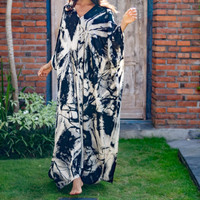 Marble Kaftan Black White