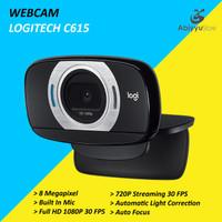 Webcam Logitech C615 HD 1080P / Web Cam PC Komputer Laptop Notebook