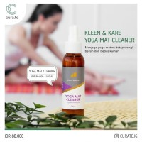 Kleen & Kare Natural Yoga Mat Cleaner 100ml Spray Pembersih Matras - Floral