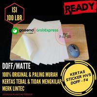Kertas Stiker HVS F4 - 100pcs / Kertas Stiker / Sticker HVS Doff