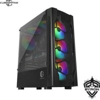 Terlaris Casing Pc Cube Gaming Byron - Atx - Left Side Tempered /