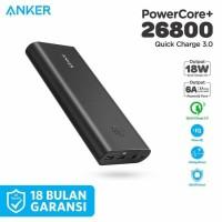 -Terbaru PowerBank Anker PowerCore+ 26800 mAh QC 3.0 Black - A1374 -