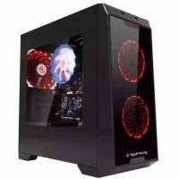 Promo Casing Pc / Komputer Gaming Power Up Raptor Black Strike 1501