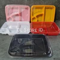 Mika Bento 4 Sekat / Tray Bento / Box Bento / Kotak Makan - Hitam