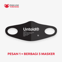 Masker untuk Indonesia x Untold - Kain Scuba Full Printing