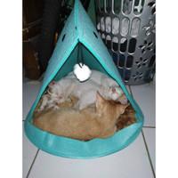 Mirai BH039 Tempat Tidur anjing/kucing/Pets Bed Portable-Mudah Dibawa - HIjau Tosca