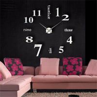 Jam Dinding Besar Raksasa Giant Wall Clock DIY 80-130cm dekorasi murah