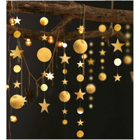 Star mix Round Party Garland Metalik 4 meter