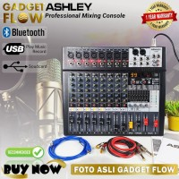 Mixer ASHLEY AX8N Soundcard Recording 8 Channel Audio Interface RESMI