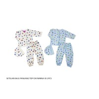 1 set 2 stelan baju panjang bayi/kaos/pakaian bayi 3-6bln LUGA