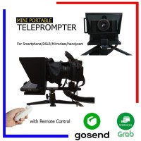 Mini Teleprompter DIY for Smartphone DSLR With Remote- IL01 - S