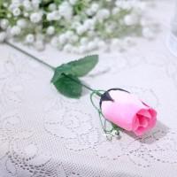 1 tangkai setangkai mawar rose bunga plastik artificial PINK