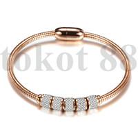 Gelang Wanita Diamond Gelang Titanium stainless Fashion Bracelet 1 - rose gold
