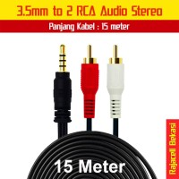 Kabel Audio Converter 3.5mm to RCA Stereo 15M Gold Plate