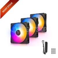 Deepcool RF 120 FS RF120FS 3in1 - 12cm Fixed RGB LED FAN + Fan Hub
