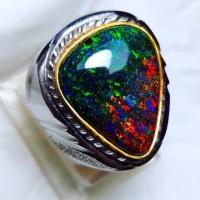 cincin batu black Opal full jarong g12