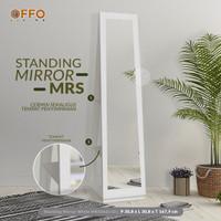Offo Living - Cermin / Meja Rias Standing Mirror Putih - MRS262110