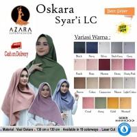 Hijab Segi Empat Oskara Syari Polos LC by Azara Scarf Jilbab Original