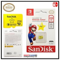 Memory Micro SD SanDisk 256GB Official for Nintendo Switch