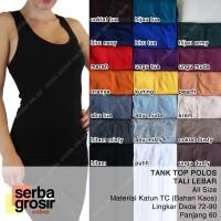 TANK TOP POLOS - Basic Tanktop Wanita Tali Lebar All Size - Kaos Dalam