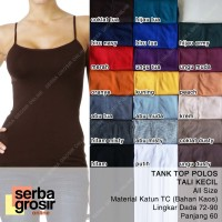 TANK TOP POLOS - Basic Tanktop Wanita Tali Kecil All Size - Kaos Dalam