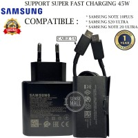CHARGER SAMSUNG S20 ULTRA 45W SUPER FAST CHARGING ORIGINAL