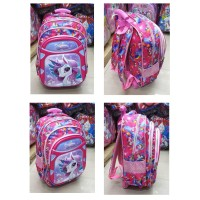 Tas Trolley Dorong Anak Perempuan SD UNICORN IMBOS Timbul 3Res PINK
