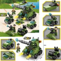 Lego Education Army and Tank Series 138pcs 6in 1