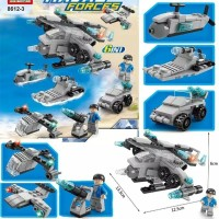 Lego Airplane and Support 136pcs 6 in1