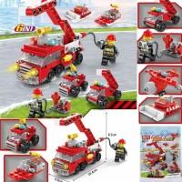 Lego Fireman and Truck Series City Fire 142pcs Building Block