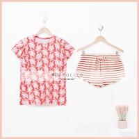 Lunaci Acadia Stripes Short Pyjamas