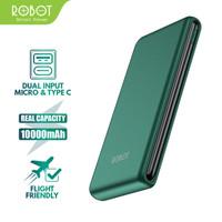 Power Bank ROBOT 10000mAh RT180 Dual Input Port Type C & Micro USB ORI