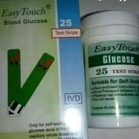 Easy touch Strip gula darah/glucosa isi 25 strip/box