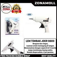 HOT MELT Glue Gun Elektrik 20W S-603 JOER Putih Lem Tembak Listrik