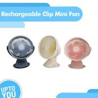 Adjustable Clip Table Fan - Kipas Angin Klip Meja Adjustable - Biru Muda