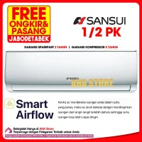 Sansui AC Air Conditioner 1/2 PK L-05-S1 (FREE ONGKIR)