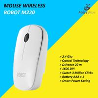 Mouse Wireless Robot M220 Optical Mouse Komputer PC Laptop - Putih
