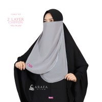Niqab Cadar Tali Karet Chiffon Silk - Arafa Hijab