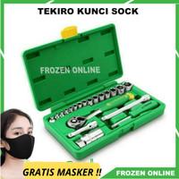 Kunci shock sock sok set 21 pcs TEKIRO