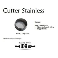 Cutter Kue Bulat / Cetakan Kue Bulat / Lingkaran Stainless Steel