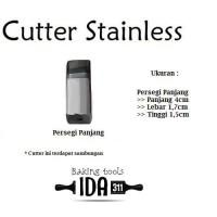 Cutter Kue Persegi Panjang / Cetakan Kue Kastangel Stainless Steel