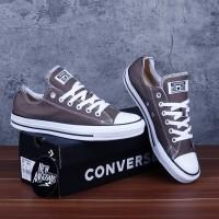 Sepatu Converse Chuck Taylor All Star Classic Grey Abu White Putih Low