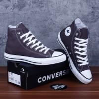 Sepatu Converse Chuck Taylor All Star Classic Grey Abu White Putih Hi