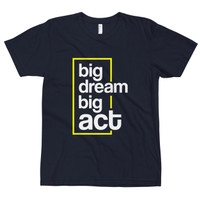 Kaos Distro Premium Lengan Pendek Big Dream Big Act T-Shirt - Navy, S