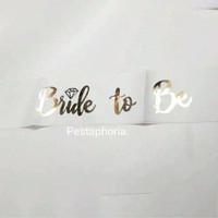 Selempang/Sash Aksesoris Bridal Shower/Bride To Be Print Gold Metalik