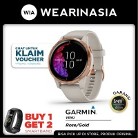 SmartWatch Garmin Venu GPS Light Sand/Rose Gold Garansi Resmi TAM 2th