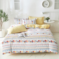 Set Sprei Zara Home + 2 Sarung Bantal + Sarung Bedcover Floral Bunga