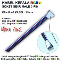 Kabel Sambung Buntung RGBW 5 PIN