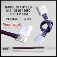 Kabel Jepit 2 Sisi LED Strip RGBW 5 PIN 3528/5050